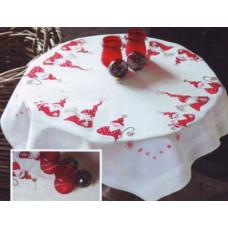 PN-0146076 Різдвяні гномики. Скатертина. Набір для вишивки нитками. Vervaco