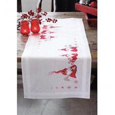 PN-0146077 Різдвяні гномики. Доріжка на стіл. Набір для вишивки нитками. Vervaco