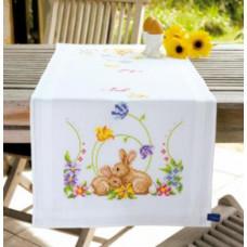 PN-0146336 Кролики. Доріжка на стіл. Vervaco. Набір для вишивки хрестом