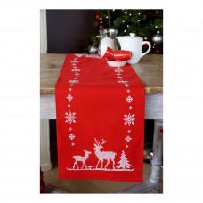 PN-0147225 Різдвяні олені. Доріжка. Vervaco. Набір для вишивки хрестом