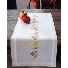 PN-0148307 Різнобарвні листя. Доріжка на стіл. Набір для вишивки нитками. Vervaco
