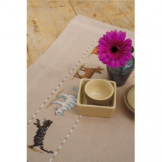 PN-0153616 Вусаті смугасті. Доріжка на стіл. Набір для вишивки нитками. Vervaco