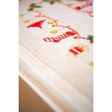 PN-0158094 Різдво. Серветка. Vervaco. Набір для вишивання нитками