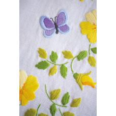 PN-0162071 Spring Flowers Tablecloth (Весняні) . Серветка. Vervaco. Набір для вишивання нитками