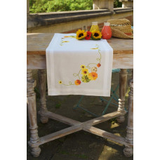 PN-0162453 Соняшники. Доріжка на стіл. Vervaco. Набір для вишивки хрестом