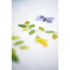 PN-0163025 Spring Flowers Table Runner. Скатертина. Vervaco. Набір для вишивання нитками