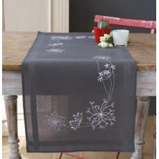 PN-0165300 Білі квіточки. Доріжка на стіл. Набір для вишивки нитками. Vervaco