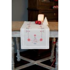 PN-0167023 Новорічні ялинки. Доріжка на стіл. Vervaco. Набір для вишивки хрестом