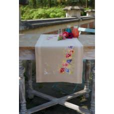 PN-0167818 Фіалки. Доріжка на стіл. Vervaco. Набір для вишивки хрестом