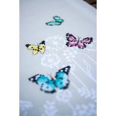 PN-0178537 Butterfly dance. Скатертина. Vervaco. Набір для вишивання нитками