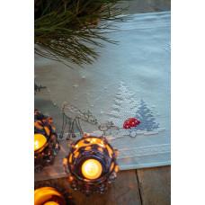 PN-0180121 Winter Christmas landsca. Скатертина. Vervaco. Набір для вишивання нитками
