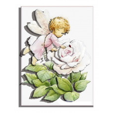 РТ130029 Ангел Трояндочка. Папертоль. Картина з паперу