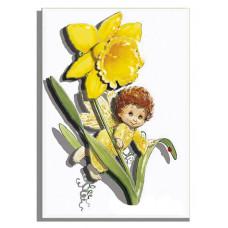 РТ130033 Ангел Нарцис. Папертоль. Картина з паперу