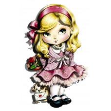 РТ130035 Блондинка. Папертоль. Картина з паперу