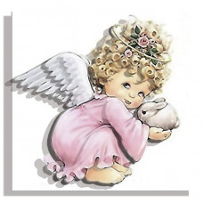 РТ130018 Ангел в рожевому. Папертоль. Набір картини з паперу