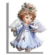 РТ130019 Ангел в блакитному. Папертоль. Набір картини з паперу