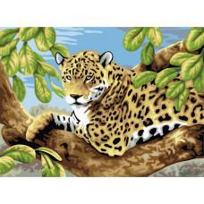 TC0001 Леопард. Пан Мольберт. Набір для малювання картини за номерами