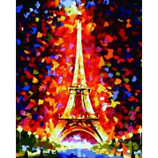 TC3111 Париж. Вогні Ейфелевої вежі. Пан Мольберт. Набір для малювання картини за номерами