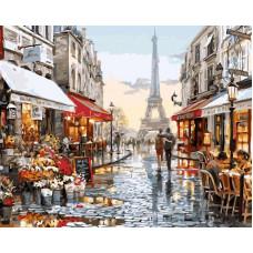 TC3114 Париж після дощу. Пан Мольберт. Набір для малювання картини за номерами