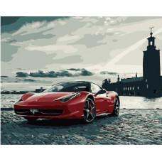 TC3133 Спортивний автомобіль Ferrari. Пан Мольберт. Набір для малювання картини за номерами