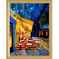 TL44 Ночная терраса. Quick Tapestry. Набор для вышивания нитками на канве с нанесенным рисунком