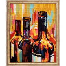 TL49 Натюрморт Вино. Quick Tapestry. Набор для вышивания нитками на канве с нанесенным рисунком