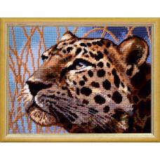 TL48 Леопард. Quick Tapestry. Набор для вышивки нитками на канве с нанесенным рисунком