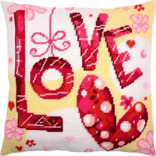 V223 Love. Подушка. Чарівниця. Набір для вишивання полукрестом на канві з нанесеним малюнком