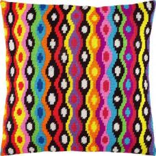 V266 Болівія. Подушка. Чарівниця. Набір для вишивання полукрестом на канві з нанесеним малюнком