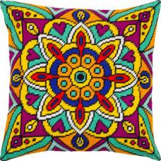 V288 Мандала. Подушка. Чарівниця. Набір для вишивання полукрестом на канві з нанесеним малюнком